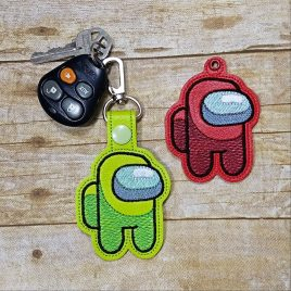 Amid Us, Keyfobs, Embroidery Design, Digital File