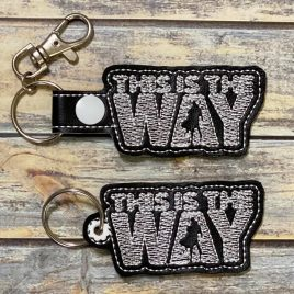 The Way, Keyfobs, Embroidery Design, Digital File
