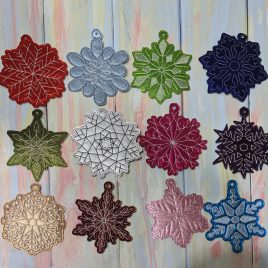 Snowflake Ornament 2020 SET, Ornament, Embroidery Design, Digital File