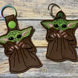 Baby Y with Mittens, Keyfobs, Embroidery Design, Digital File