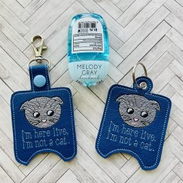 Lawyer Cat, Sanitizer Holders, ITH, Embroidery Design, Digital File