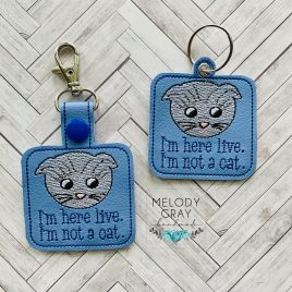Lawer Cat, Keyfobs, Embroidery Design, Digital File
