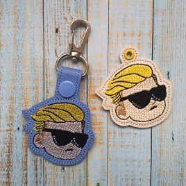 Wallstreet Bets Kid, Keyfobs, Embroidery Design, Digital File
