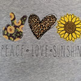 Peace Love Sunshine, Applique, Embroidery Design, Digital File