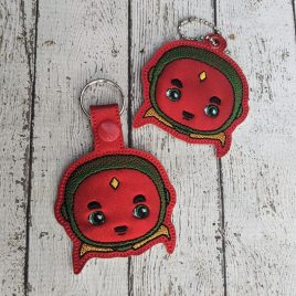 Vision Face, Keyfobs, Embroidery Design, Digital File