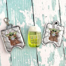 Bunny Baby Y, Sanitizer Holders, ITH, Embroidery Design, Digital File