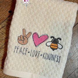 Peace Love Kindness, Sketch, Embroidery Design, Digital File