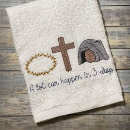 A Lot Can Happen In 3 Days, Sketch, 5 sizes, Embroidery Design, Digital File