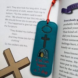 A Lot Can Happen In 3 Days, ITH Bookmark, Embroidery Design, Digital File