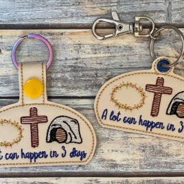 A Lot Can Happen In 3 Days, Keyfobs, Embroidery Design, Digital File