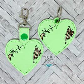 Zombie Heart, Keyfobs, Embroidery Design, Digital File